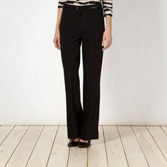 Designer black bootcut belted trousers- at Debenhams.com