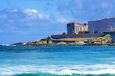 A Coruña La Corogne Galice Espagne 205 - Av Pedro Barrié de la Maza, la plage