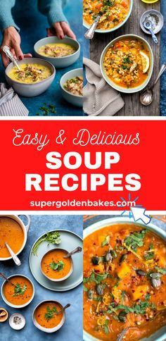 I live for soup! Comforting, hearty, healthy and delicious soup recipes for all seasons! Pick from vegetarian, vegan, meaty or slimming friendly. #soup #souprecipeseasy