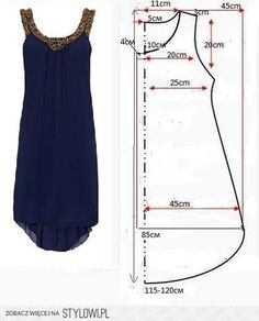 Ropa veraniega: ideas y patrones Un vestido perfecto para el verano DIY - Sommer Mode Simple dress Embroidery on neck and armhole – Woman's Portal free printable sewing patterns for 18 inch doll clothes Sewing thorns knows that everyone has the ability Sewing Patterns Free, Free Sewing, Sewing Tutorials, Clothing Patterns, Sewing Projects, Free Pattern, Pattern Sewing, Pattern Ideas, Embroidery Patterns