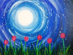 Tulips in the moonlight Pinot's Palette - Chesterfield Painting Library