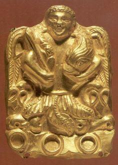 (Afghanistan) Tillya Tepe Tomb. Gold Ornament.