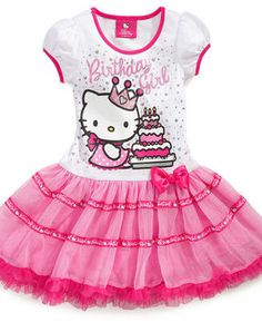 098d65c22 Hello Kitty Kids Dress, Little Girls Birthday Tutu Dress at ShopStyle Hello  Kitty Tutu,