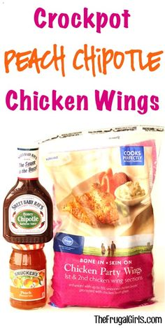 Crockpot Peach Chipotle Chicken Wings Recipe! ~ from TheFrugalGirls.com ~ this Easy Crock Pot Wing Recipe will add the wow-factor to any party and are a must have for your game day food! #slowcooker #recipes #thefrugalgirls