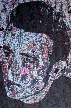 """""""Das Schicksal mischt die Karten, wir spielen."""" Arthur Schopenhauer  """"James Dean"""" Mischtechnik: Tusche und Fotomanipulation von Jörg Schubert """"James Dean"""" Mixed media: ink and photo manipulation by Jörg Schubert  #art #kunst #portrait #mischtechnik #mixed #media #fotomanipulation #mann #man #ink #tusche #glitch #pop #james #dean #moderne #blog #bilder #nrw #kuenstler #zitate www.chanceforum.de"""