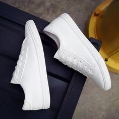 Promo Offer 2016 New Spring and Summer With White Shoes Women Flat Leather Canvas Shoes Female White Board Shoes Casual Shoes Female White Canvas Shoes, White Shoes, Lace Up Shoes, White Leather Shoes, Womens Summer Shoes, Womens Shoes Wedges, Fashion Flats, Sneakers Fashion, Casual Shoes