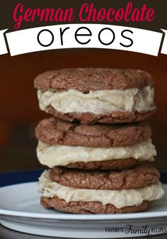 German Chocolate Oreos