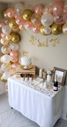 Birthday Balloon Decorations, Bridal Shower Decorations, Birthday Balloons, Graduation Balloons, Balloon Arch, Balloon Garland, Ballon Arch Diy, Bridal Balloons, Blowing Up Balloons