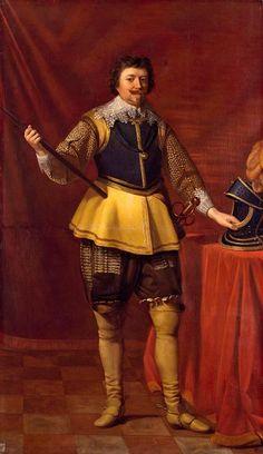 The Royal Collection: Frederick Henry, Prince of Orange Gerrit van Honthorst, 1631 Nassau, Utrecht, Catherine Of Braganza, Prince Of Orange, The Royal Collection, Royal Fashion, Disco Fashion, Baroque Fashion, Men Fashion