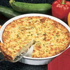 Zucchini Quiche #recipe #dinner #maindish