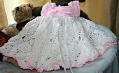 Baby crochet dress Little girls heirloom by crochetyknitsnbits, £34.99