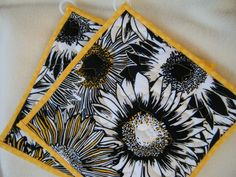 On Sale Quilted Potholders Floral Set of 2 by KraftyGrannysHome, $11.00