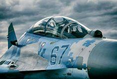Air Force of Ukraine Sukhoi Fighter Aircraft, Fighter Jets, Ukraine Military, Airplane Design, Engine Start, Sukhoi, Military Aircraft, Air Force, Pilot