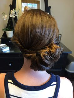 side bun updo by Kimberly Valosen