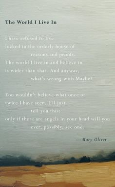 ...what's wrong with Maybe? | From FELICITY, Mary Oliver's new collection of poems celebrating love (out today)