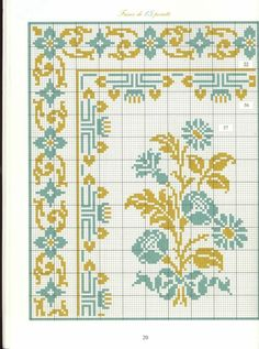 Borders in cross stitch free charts - lots like this