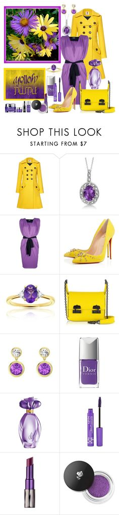"""""""Yellow & Purple"""" by fantasiegirl ❤ liked on Polyvore featuring Orla Kiely, Allurez, Vionnet, Christian Louboutin, McQ by Alexander McQueen, Christian Dior, GUESS, NYX, Urban Decay and Lancôme"""