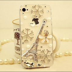 Find More Phone Bags & Cases Information about Hot ! Luxury Handmade 3D Eiffel Tower diamond case for iphone 55s 5c snowflake bling rhinestone case for iphone 4s Free Shipping,High Quality Phone Bags & Cases from Shenzhen Smile Trade Electronic Co. Ltd. on Aliexpress.com