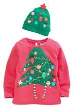 Christmas Tree Dress Up Set With Hat (3mths-6yrs)