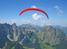 Paragliding in picturesque Switzerland. #honeymoon #activities #adventure