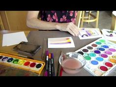 VIDEO: Watercolor Tips and Tricks - i like the way she used the markers # Pin++ for Pinterest #