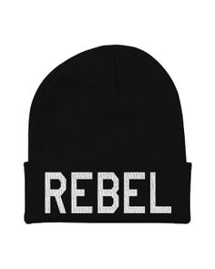 Beanies with Words Black Beanie With Words Word by CharlieParty, $15.00