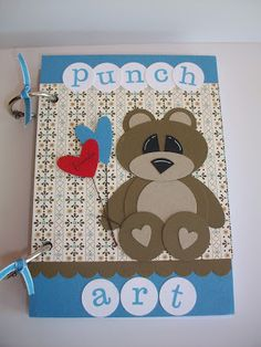 """We made this book today out Stampin' Up! On board chipboard sheets(pg 155) cut to 4 1/8"""" x 5 3/4"""" then covered the chip board with marina ..."""