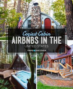 13 Coziest Cabin Airbnbs in the United States - Picture yourself sipping hot cocoa by the roaring fire, enjoying woodland views from your private J - Vacation Places, Vacation Trips, Dream Vacations, Places To Travel, Travel Destinations, Romantic Vacations, Romantic Travel, Romantic Weekend Getaways, Vacation Ideas