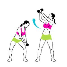 Reverse Dumbbell Chop- Bend your knees, rotate your torso, and hold a dumbbell in both hands outside your left thigh. Keeping your arms straight, swing the weight above your right shoulder as you straighten your legs.