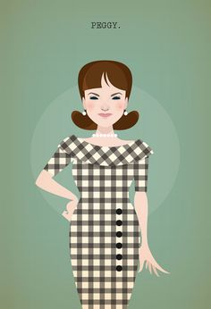 Peggy Olsen - Mad Men Vector Artworks