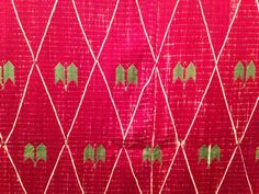Detail of Thirma, photo by Gopika Nath Phulkari Embroidery, Garland, Detail, Garlands, Flower Crowns, Floral Arrangements