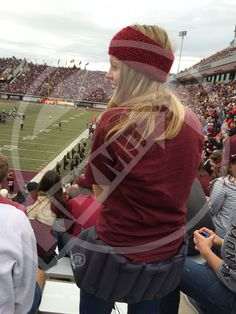 Montana Grizzlies game day with the #Klymit Cush Stadium Seat. Want to make your friends jealous at the game? Stay warm and comfy with the Cush Stadium Seat. MSRP: $24.95 #ComfyFan #StadiumSeat #StadiumCushion