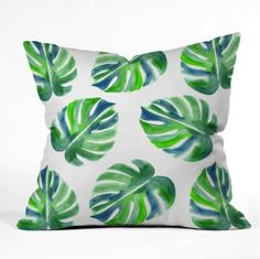 Shop our Going Green Outdoor Throw Pillow and other coordinating products in this fun summer inspired Laura Trevey collection. UV protected and mildew resistant. Available in 4 different sizes. Green Throw Pillows, Outdoor Throw Pillows, Decor Pillows, Coastal Living, Coastal Decor, Eco Friendly Cleaning Products, Colourful Living Room, Pink Poppies, Watercolor Design