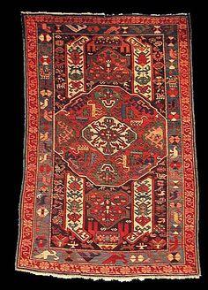 Antique Seychour rug, Kuba Region, Caucasian Kuba Seychour rugs