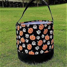 monogrammed halloween bag halloween bucket beach tote treat or trick bag sand bucket baby gift