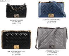 chanel le boy flap handbag purse bag size comparison dimension guide