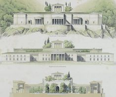 Schinkel's Utopian late project: project for Schloss Orianda, Crimea, 1838.