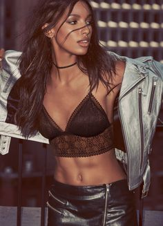 Honestly, is there anything hotter than leather and lace?  | Victoria's Secret…