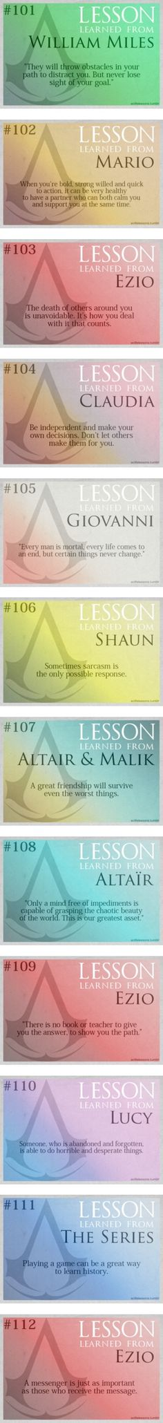 """Assassin's Creed Life Lessons - Part 2"" by double-crossed ❤️ liked on Polyvore"