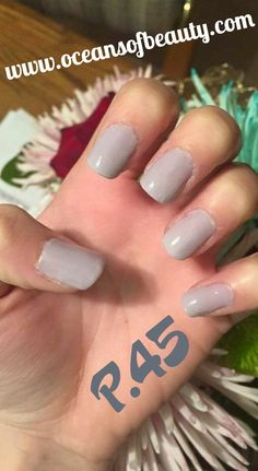 P.45 EZdip Gel Powder. DIY EZ Dip. No lamps needed, lasts 2-3 weeks! Salon Quality done right in your own home! For updates, customer pics, contests and much more please like us on Facebook https://www.facebook.com/EZ-DIP-NAILS-1523939111191370/ #ezdip #ezdipnails #diynails #naildesign #dippowder #gelnails #nailpolish #mani #manicure #dippowdernails