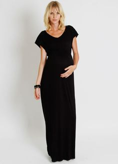 Everly Grey - Abbey Maternity Maxi Dress. Shop for celebrity maternity fashion online at Queen Bee