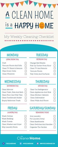 Keep Your House In Check With This Cleaning Checklist  Beds