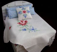 Doll House Bedding and Furniture for the Collector. $64.99, via Etsy.