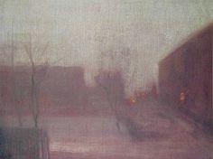 Whistler James Nocturne Trafalgar Square Chelsea Snow 1876 - Nocturne (painting)…