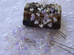 Bridal Jewelry Wedding Hair Pins Rhinestone Silver Bride Comb Bridesmaid Gift