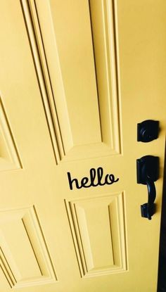 39 Ideas Apartment Door Aesthetic For 2019 Yellow Aesthetic Pastel, Aesthetic Colors, White Aesthetic, Yellow Doors, Yellow Walls, Mellow Yellow, Black N Yellow, Baby Yellow, Mustard Yellow
