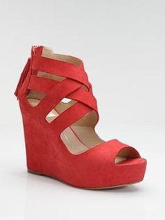 Suede Wedge Sandal by Dolce Vita: $190 #Sandal#Suede #Dolce_Vita