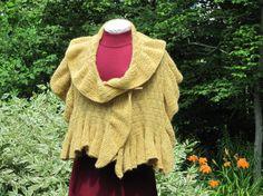 Golden Fleece Reversible Hand Spun Naturally Dyed by SpeckledLamb, $295.00
