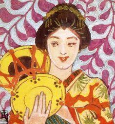 (22) 藤島武二《音楽六題・鼓》1905年、ひろしま美術館