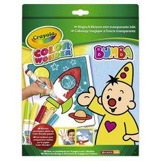 Color Wonder is een speciaal concept voor kinderen die nog weleens buiten de lijntjes kleuren. De inkt van de 5 bijgevoegde Color Wonder stiften verschijnen alleen op Color Wonder papier en niet op andere ondergronden. Color Wonder neemt hierdoor stress weg over vlekken maken op huid, kleding of meubelen. Kleuren was nog nooit zo leuk en verrassend als met Color Wonder, het knoeivrije kleurboek van Crayola! - Color Wonder kleurboek Bumba(18 pagina's). - 5 Color Wonder viltstiften. - Inkt van…